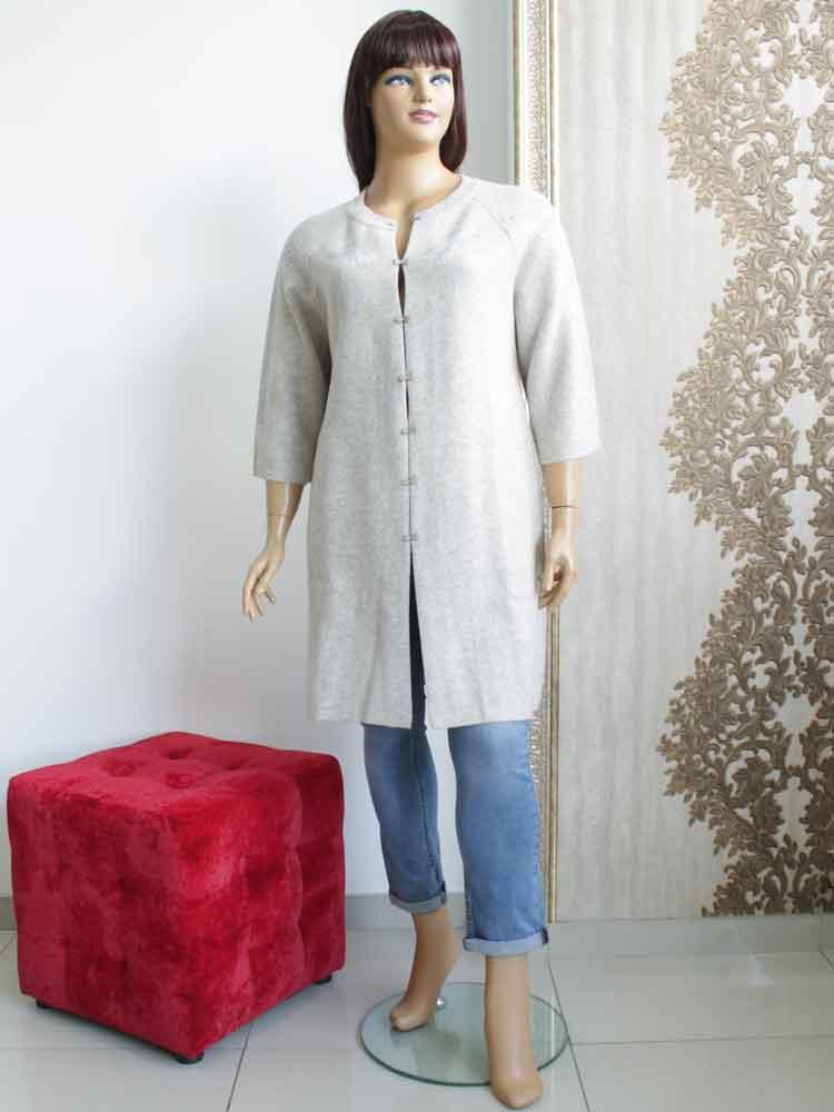 Кардиган женский из шерсти с аппликацией большого размера. Магазин «Пышная  Дама», Харьков dad10e10ffe