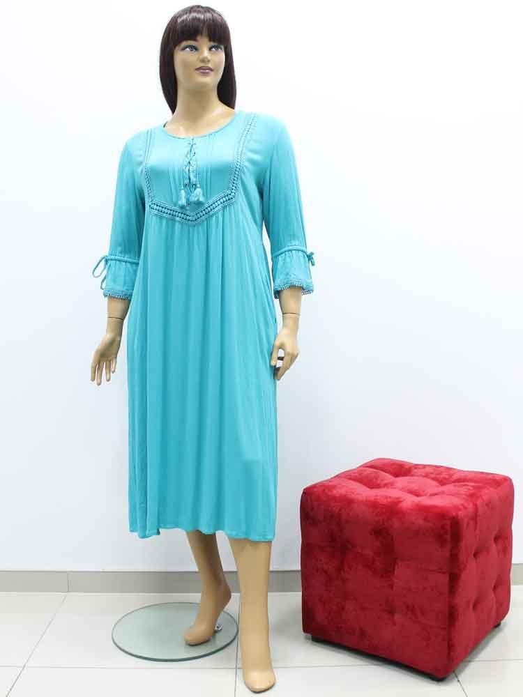 c8006f2cbf100 Платье из вискозы с отделкой из кружева большого размера, 2019. Магазин  «Пышная Дама